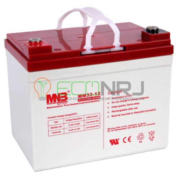 Аккумуляторная батарея MNB MМ33-12