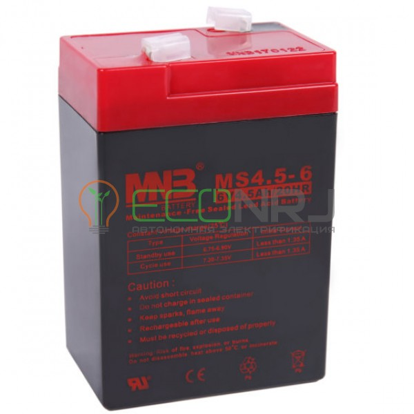 Аккумуляторная батарея MNB MS4.5-6