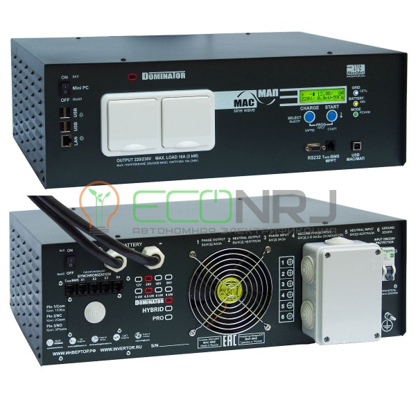 Инвертор МАП DOMINATOR 12В 3 кВт