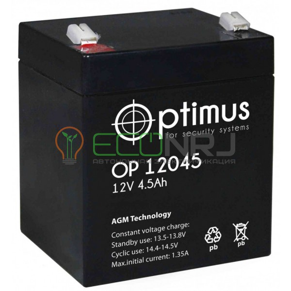 Аккумуляторная батарея Optimus OP 12045
