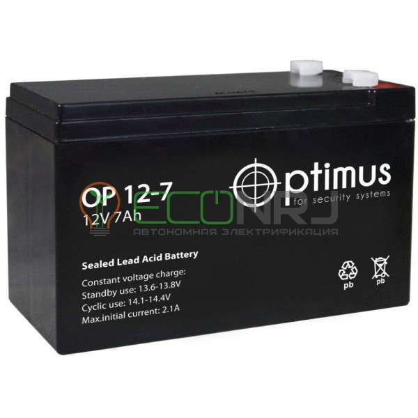 Аккумуляторная батарея Optimus OP 1207