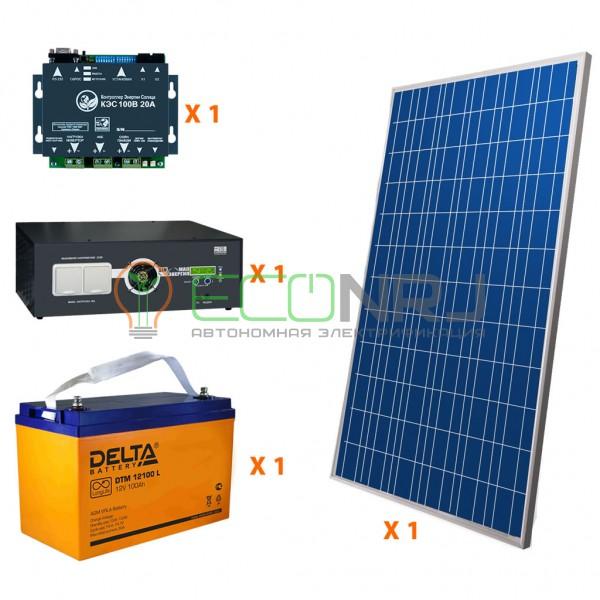Солнечная электростанция 1.4 кВт*ч в сутки HYBRID