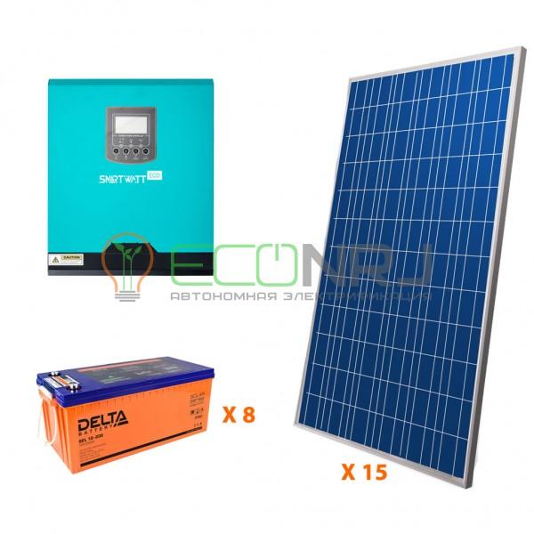 Солнечная электростанция 26,25 кВт*ч в сутки ECO GEL PLUS