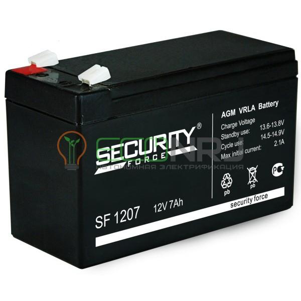 Аккумуляторная батарея Security Force SF 1207