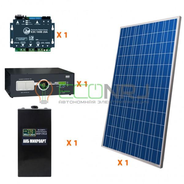 Солнечная электростанция 1.4 кВт*ч в сутки HYBRID Панцирь