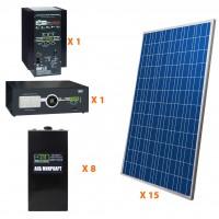 Солнечная электростанция 26.25 кВт*ч в сутки PRO Панцирь