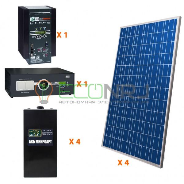 Солнечная электростанция 7 кВт*ч в сутки HYBRID Панцирь