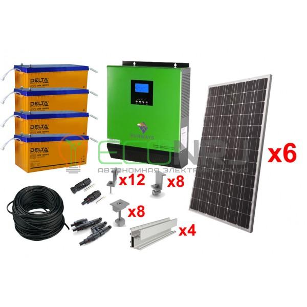 Солнечная электростанция 10,5 кВт*ч в сутки