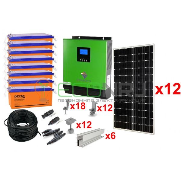 Солнечная электростанция 21 кВт*ч в сутки