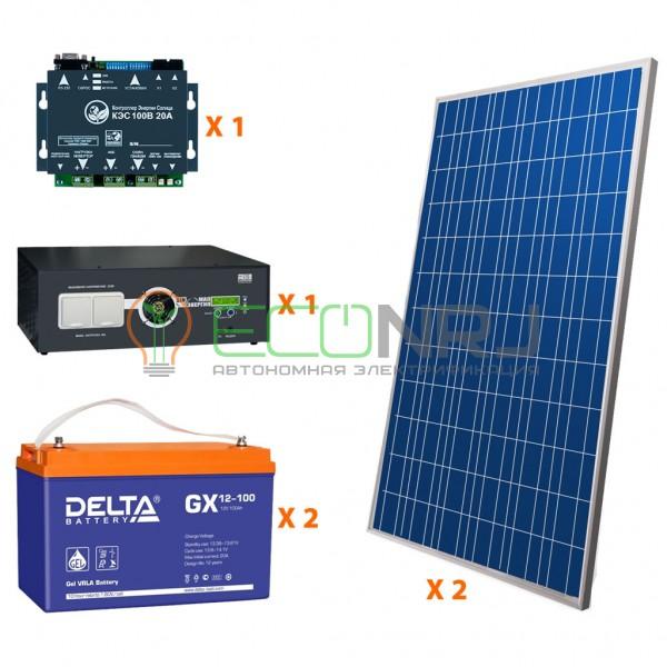 Солнечная электростанция 3.5 кВт*ч в сутки HYBRID GEL