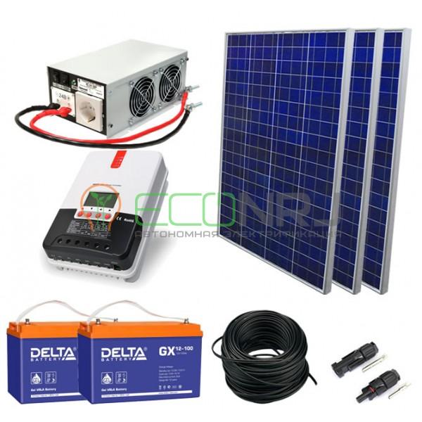Солнечная электростанция 3.1 кВт*ч в сутки ГЕЛЬ