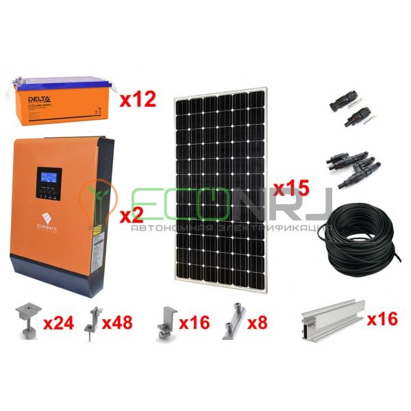 Солнечная электростанция 33,6 кВт*ч в сутки