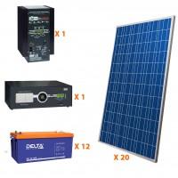 Солнечная электростанция 35 кВт*ч в сутки HYBRID GEL