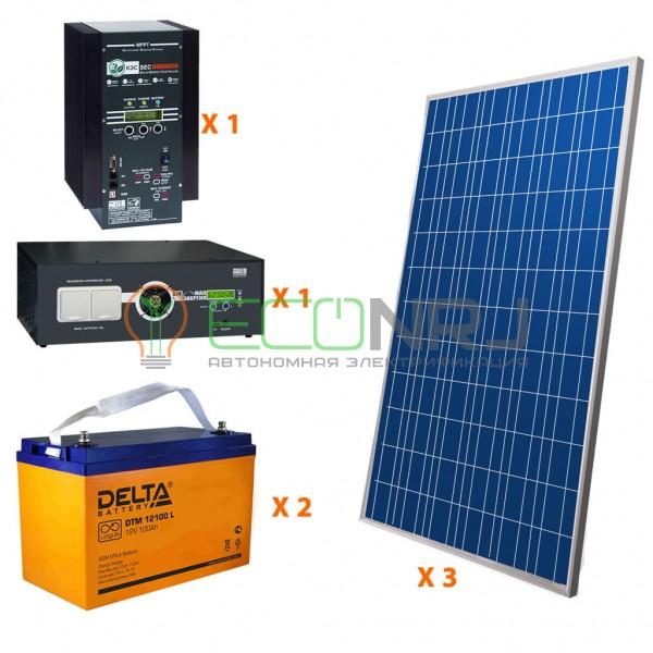 Солнечная электростанция 5.25 кВт*ч в сутки HYBRID