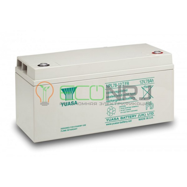 Аккумуляторная батарея Yuasa NPL 78-12IFR