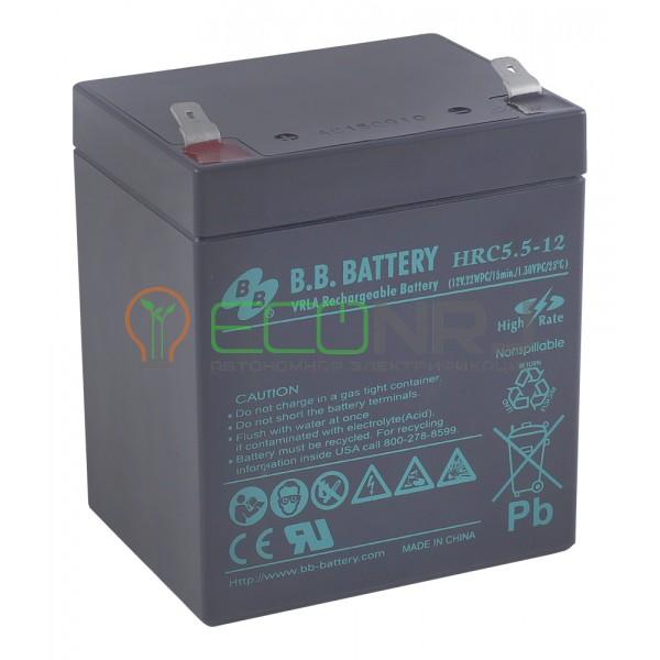 Аккумуляторная батарея B.B.Battery HRC 5,5-12