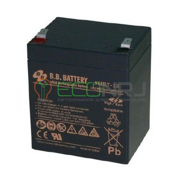 Аккумуляторная батарея B.B.Battery SHR 7-12