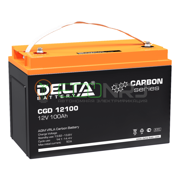 Аккумуляторная батарея Delta CGD 12100