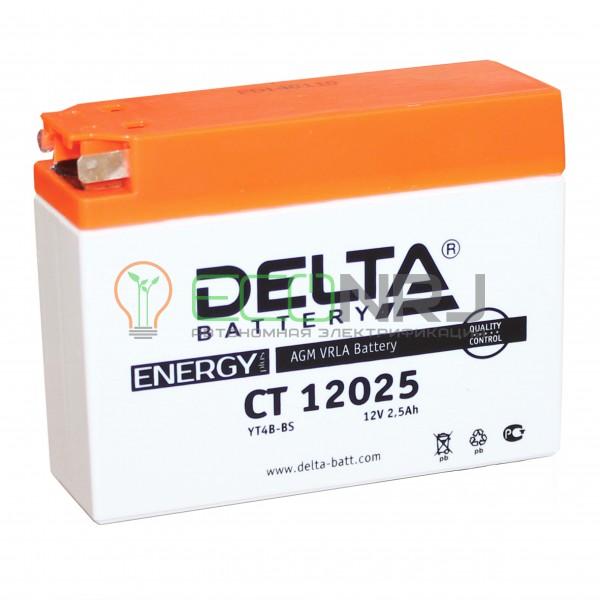 Аккумуляторная батарея Delta CT 12025 (Мото АКБ)