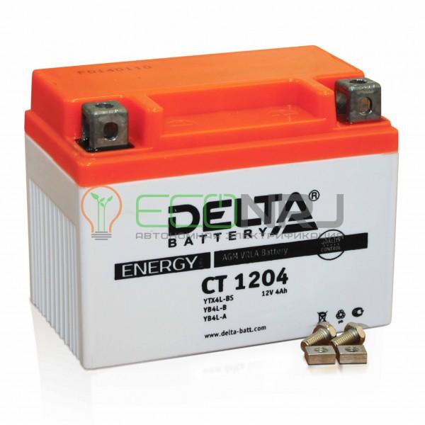 Аккумуляторная батарея Delta CT 1204 (Мото АКБ)