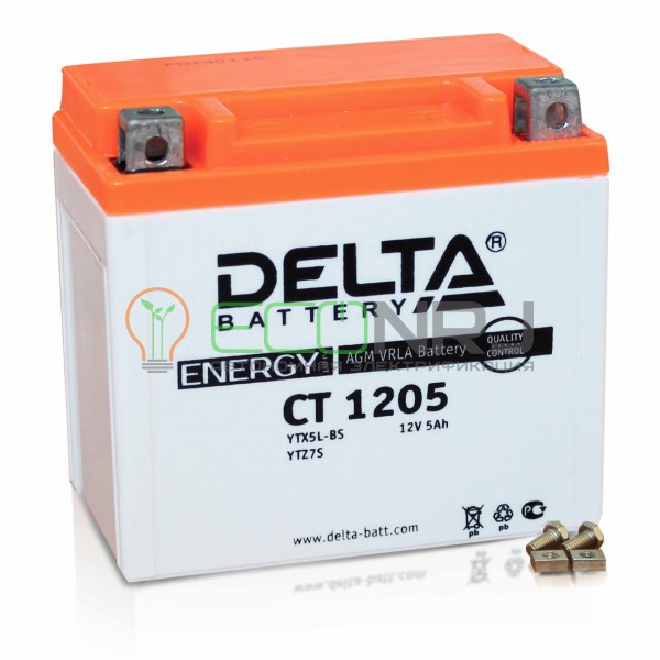Аккумуляторная батарея Delta CT 1205 (Мото АКБ)