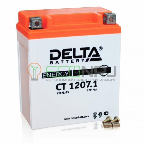 Аккумуляторная батарея Delta CT 1207.1 (Мото АКБ)