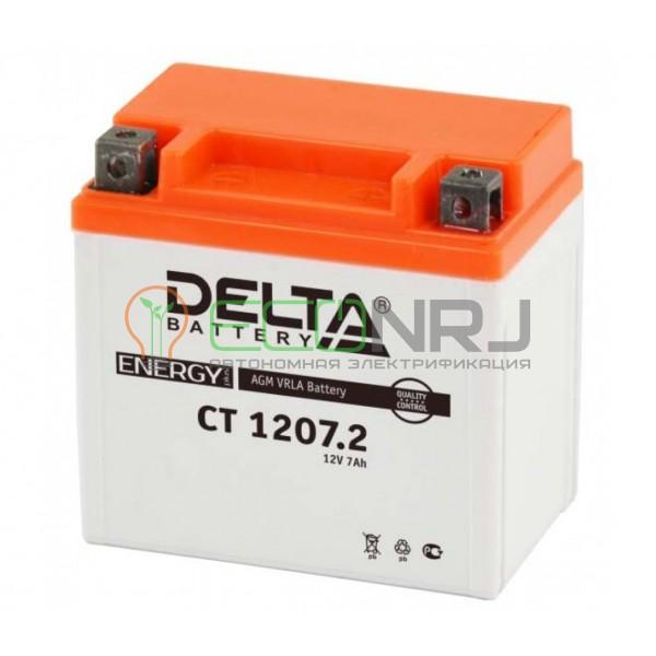 Аккумуляторная батарея Delta CT 1207.2 (Мото АКБ)