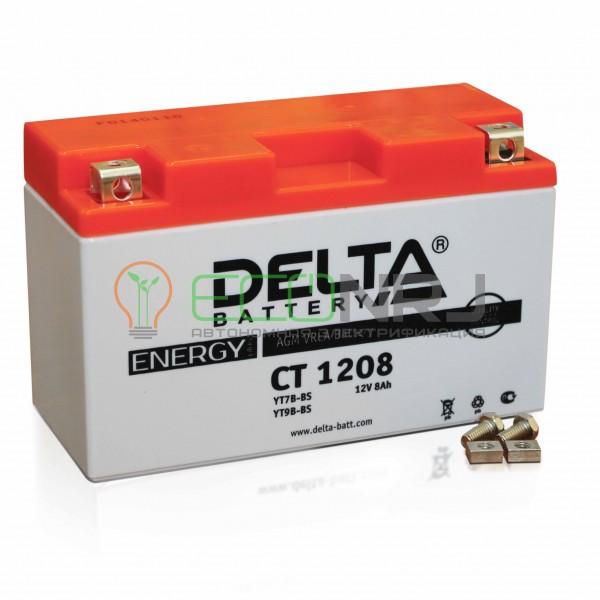Аккумуляторная батарея Delta CT 1208 (Мото АКБ)