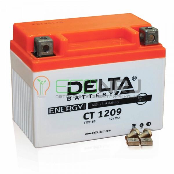 Аккумуляторная батарея Delta CT 1209 (Мото АКБ)