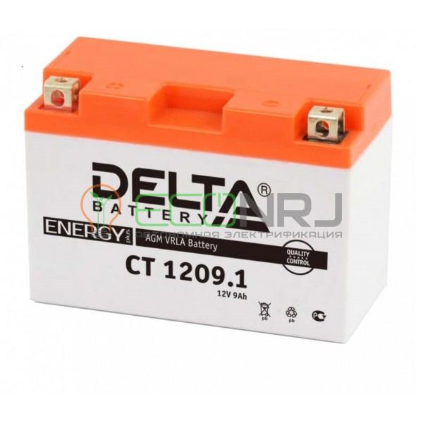 Аккумуляторная батарея Delta CT 1209.1 (Мото АКБ)