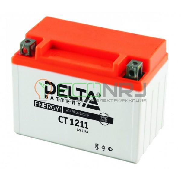 Аккумуляторная батарея Delta CT 1211 (Мото АКБ)