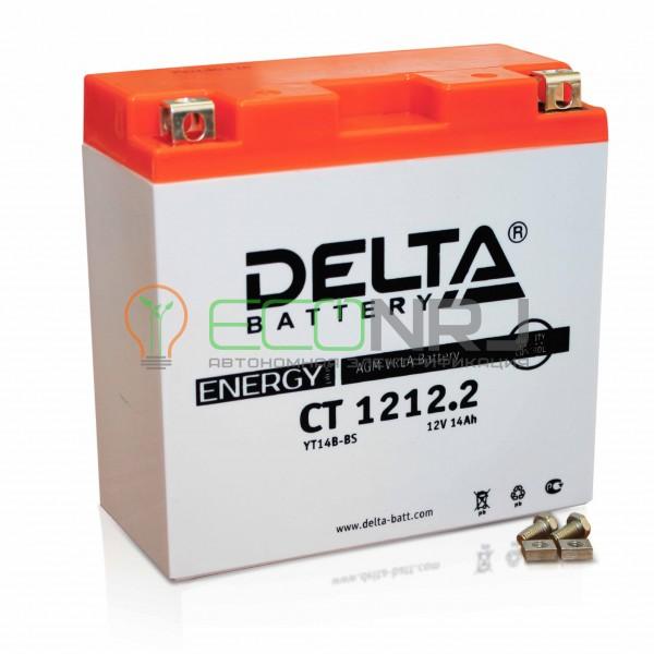 Аккумуляторная батарея Delta CT 1212.2 (Мото АКБ)