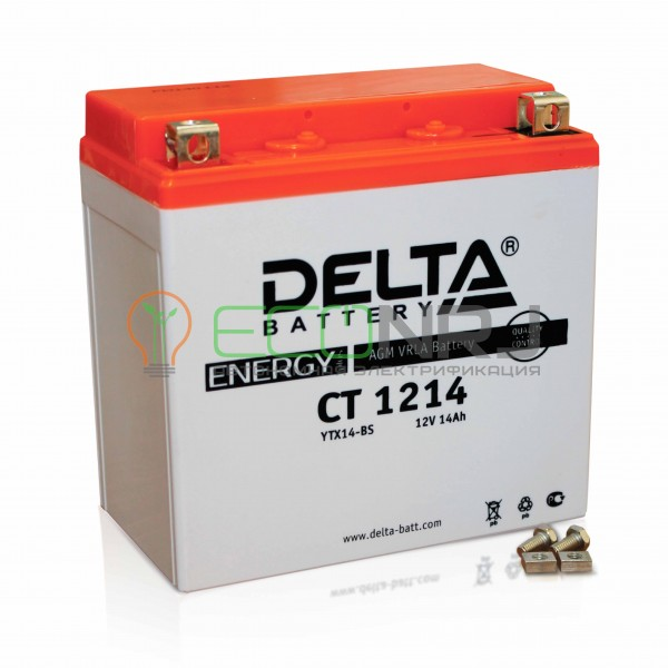 Аккумуляторная батарея Delta CT 1214 (Мото АКБ)