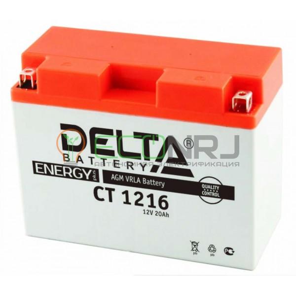 Аккумуляторная батарея Delta CT 1216 (Мото АКБ)