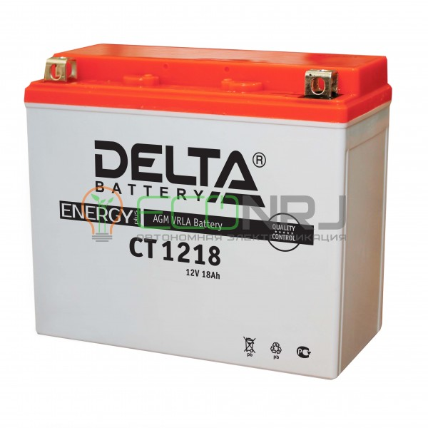 Аккумуляторная батарея Delta CT 1218 (Мото АКБ)