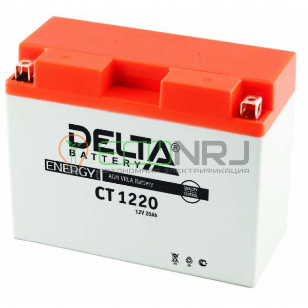 Аккумуляторная батарея Delta CT 1220 (Мото АКБ)