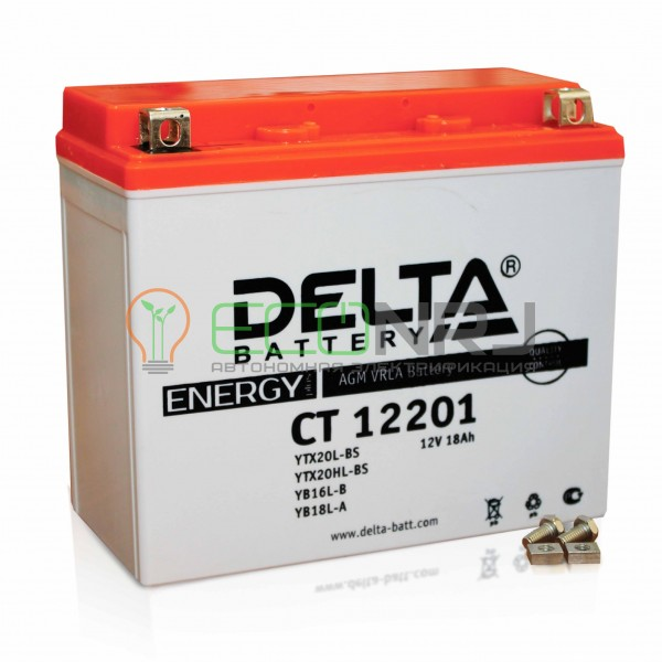 Аккумуляторная батарея Delta CT 12201 (Мото АКБ)