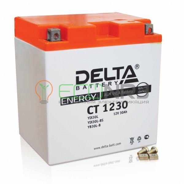 Аккумуляторная батарея Delta CT 1230 (Мото АКБ)