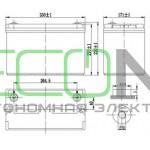 Аккумуляторная батарея EXMORK HRL 12-100