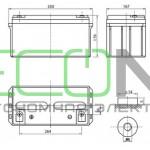 Аккумуляторная батарея Delta DTM 1265 L