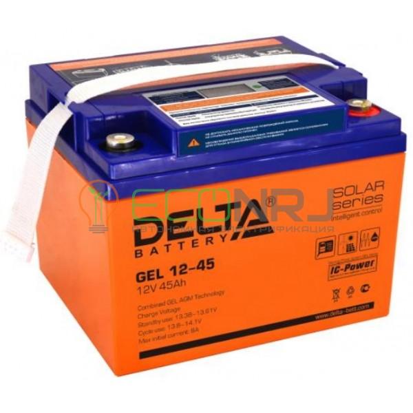 Аккумуляторная батарея Delta GEL 12-45
