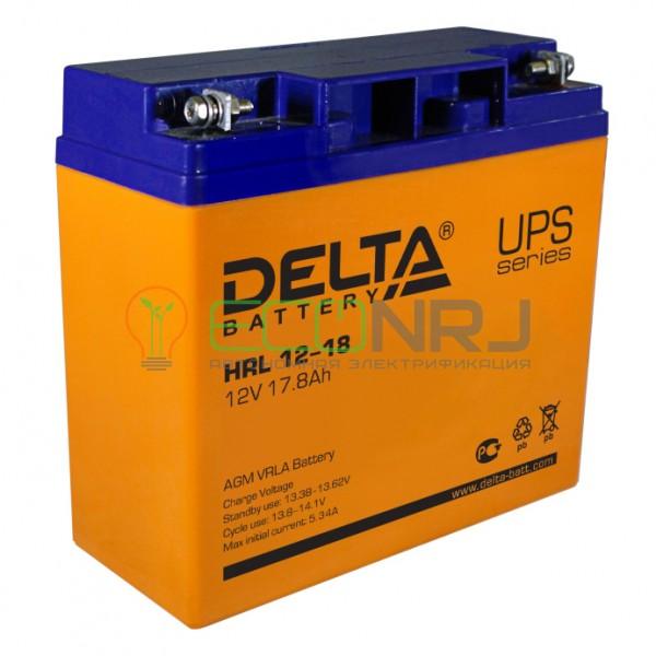 Аккумуляторная батарея Delta HRL 12-18