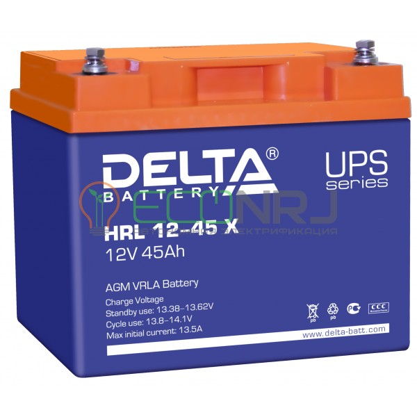 Аккумуляторная батарея Delta HRL 12-45 X