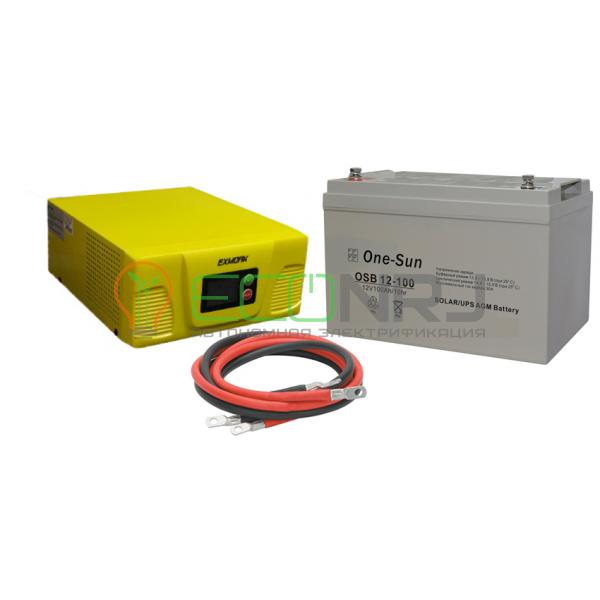 Инвертор (ИБП) Exmork NB-Y300W + АКБ One-Sun OSB 12100