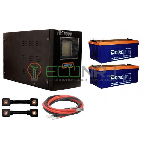 Инвертор (ИБП) Энергия ПН-2000 + Аккумуляторная батарея Delta GX 12-230