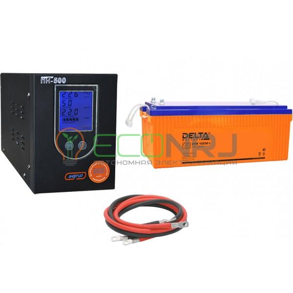 Инвертор (ИБП) Энергия ПН-500 + Аккумуляторная батарея Delta DTM 12230 L