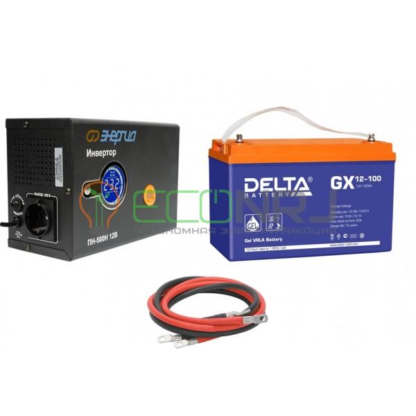 Инвертор (ИБП) Энергия ПН-500Н + Аккумуляторная батарея Delta GX 12-100