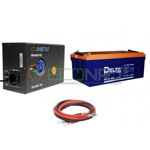 Инвертор (ИБП) Энергия ПН-500Н + Аккумуляторная батарея Delta GX 12-230