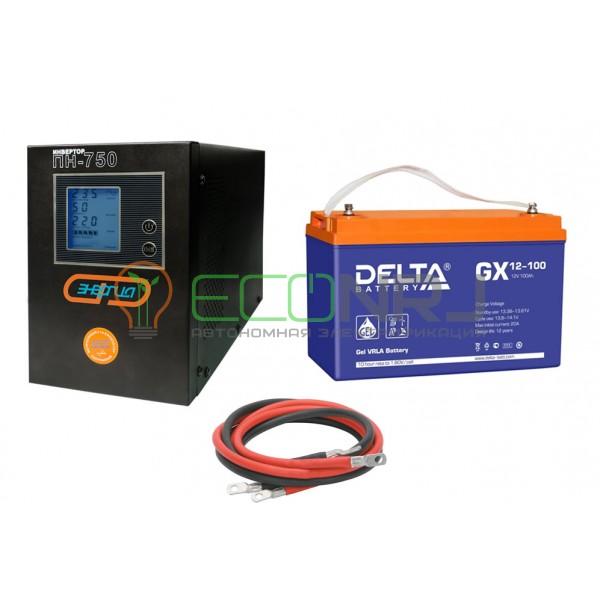 Инвертор (ИБП) Энергия ПН-750 + Аккумуляторная батарея Delta GX 12-100