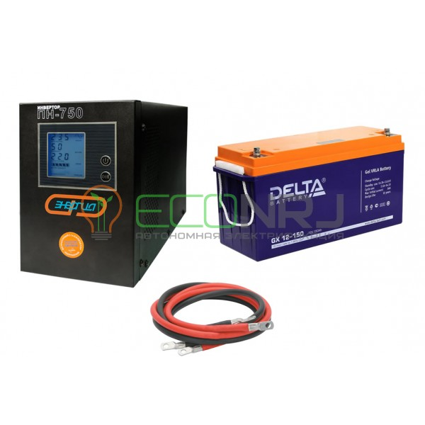 Инвертор (ИБП) Энергия ПН-750 + Аккумуляторная батарея Delta GX 12-150